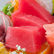 Tuna with vegetables — Stock Photo
