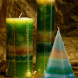 Hand made candles. — Stock Photo