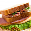 Sandwiches with cheese and ham . - Stock Photo
