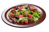 Meat salad with vegetable and sesame. — Stock Photo