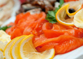 Seafood arrangement — Stock Photo