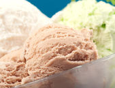 Ice cream in a glass vase. closeup — Stock Photo