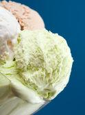 Ice cream in a glass vase. — Stock Photo
