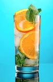 Mojito orange cocktail — Stock Photo