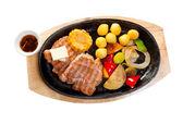 日本的大理石的牛肉烤 — Stockfoto