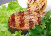 Grilovaný steak z lososa — Stock fotografie