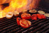 Cooking vegetables barbecue — Stock Photo