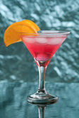 Tropical cold red cocktail — Stock Photo