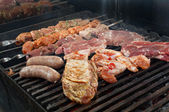 Cooking meat barbecue — Stock Photo