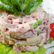 Salad with beef - Foto Stock