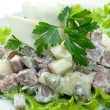 Salad with beef and potatoes - Stock Photo