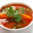 Soup carpaccio Primavera — Stock Photo