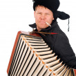 Russian man with accordion — Stock Photo