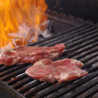 Sirloin steak prepared on the barbecue grill. — Stock Photo