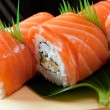 Japanese sushi Roll made of Smoked fish — Stock Photo #6030791