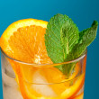 Mojito orange cocktail. — Stock Photo