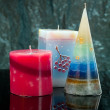 Hand made candles. - Stock Photo