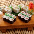 Japanese sushi Roll made of Smoked fish — Stock Photo #6031782