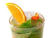 Mojito orange cocktail. closeup — Stock Photo