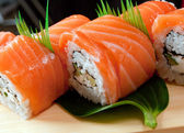 Japanese sushi Roll made of Smoked fish — Stock Photo