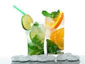 Mojito cocktai — Stock Photo