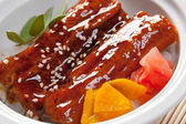 Japanese food roast eel ( unagi — Stock Photo