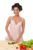 Housewife preparing parsley . — Stock Photo