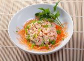 Salad of shrimp — Stock Photo