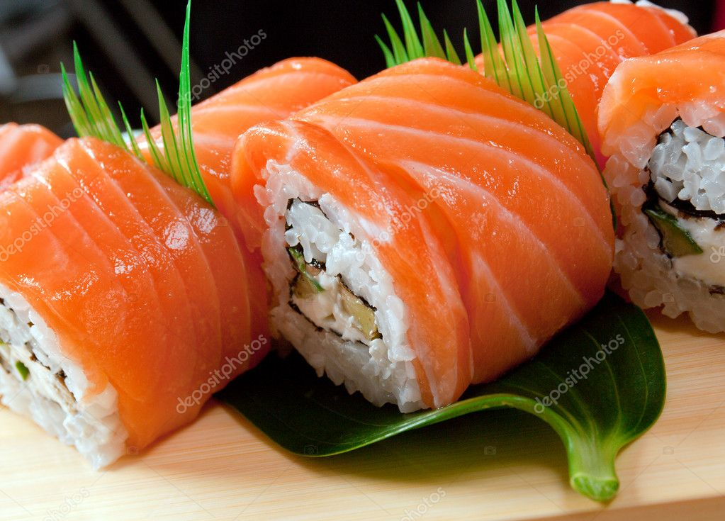 Roll Made of Smoked Fish