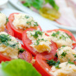 Stock Photo: Tomatoes Stuffed with Feta.