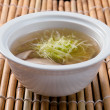 Chinese seafood noodle soup - Stock Photo