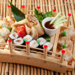 Assorted sushi Japanese food — Stock Photo