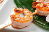 Japanese skewered Jumbo Shrimp — Stock Photo