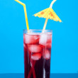 Cocktail  with cherry closeup — Stock Photo