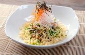 Salad smoked eel — Stock Photo
