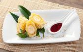Dessert met banaan — Stockfoto