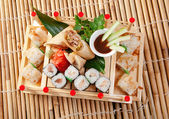 Assorted sushi Japanese food — Stok fotoğraf