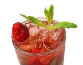 Mojito strawberry cocktail. closeup — Stock Photo