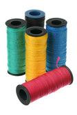 Bobbins of thread — Stock Photo