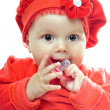 Stock Photo: Cute baby girl