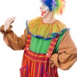 Clown speaks with his hand — Stock Photo #5634184