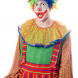 Portrait of a surprised clown — Stock Photo