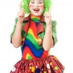 Portrait of female clown — Stock Photo #5634196