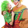 Stock Photo: Couple of colorful clowns