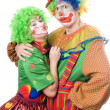 Couple of funny clowns — Stock Photo