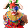 Stock Photo: Couple of funny clowns