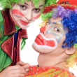 Portrait of a couple of clowns — Stock Photo #5634241