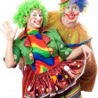 Stock Photo: Couple of playful clowns