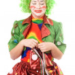 Portrait of crying female clown — Stockfoto #5634247