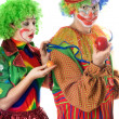 Inequity in the world of clowns — Stock Photo